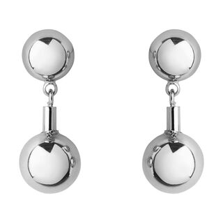 Stacked Sphere Stud Earring, in Silver on Whistles