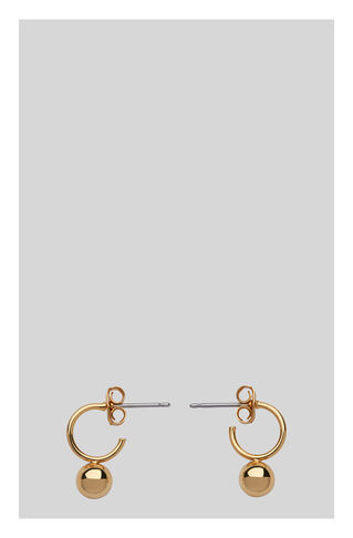 Mini Hoop And Sphere Earring, in Gold on Whistles