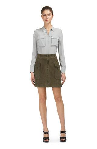 Suede Pocket Skirt, in Khaki on Whistles