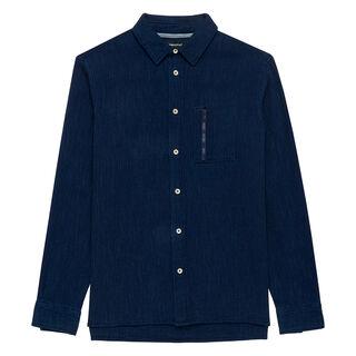 Japanese Indigo Textured Shirt, in Navy on Whistles