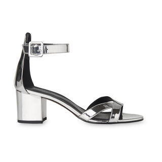 Marquis Block Heel Sandal, in Silver on Whistles