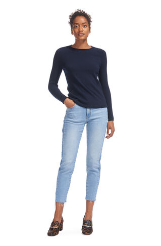 Saddle Shoulder Cashmere Knit, in Navy on Whistles