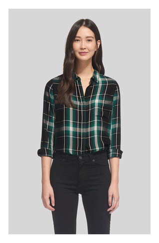 Emelia Check Shirt, in Green/Multi on Whistles