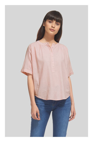 Paula Stripe Placket Blouse, in Pink/Multi on Whistles