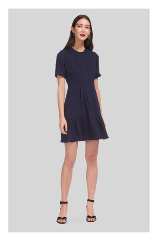Tilly Pleat Detail Dress, in Navy on Whistles