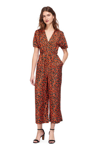 Cherry Print Jumpsuit, in Red/Multi on Whistles