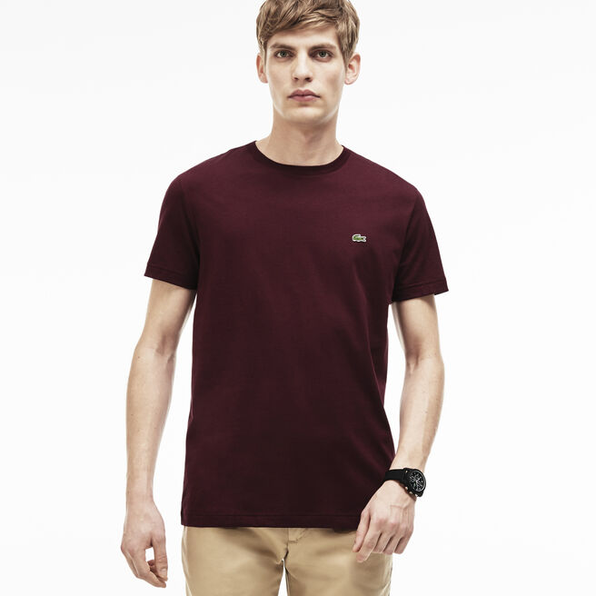 Regular fit crew neck T-shirt in cotton