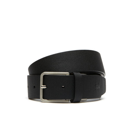 Belt in monochrome petit piqué embossed leather