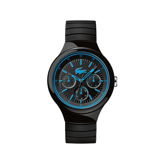 Borneo Watch - black-blue silicone strap